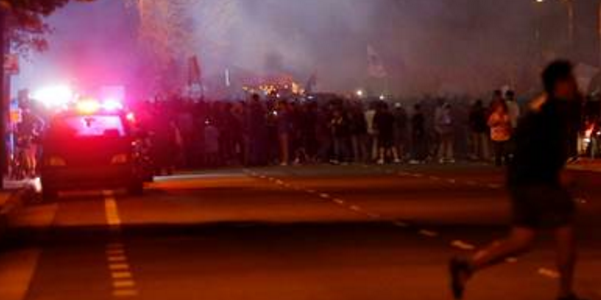 The Donald Trump rally in California descended into violent protests.