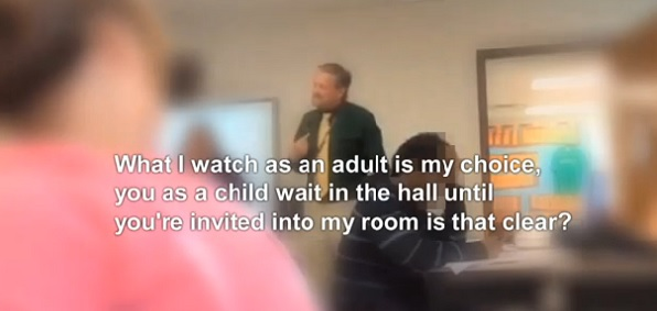 watch teacher porn Apr 2016  VIDEO: Middle School Teacher Freaks Out And Threatens Student After Getting  Caught Watching Porn In Class VIRGINIA - An East Bank .