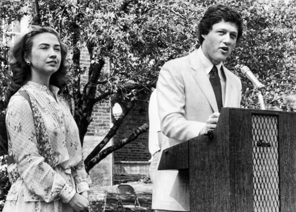 Hillary and Bill Clinton in Arkansas