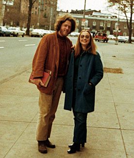 Bill and Hillary Clinton at Yale Law in 1973, where they met at the library (Photo: William J. Clinton Presidential Library)