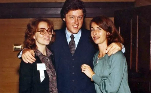Bill Clinton in 1979 with Hillary, left, and Hillary's friend, Diane Blair, right (Photo: University of Arkansas Libraries/Special Collections)