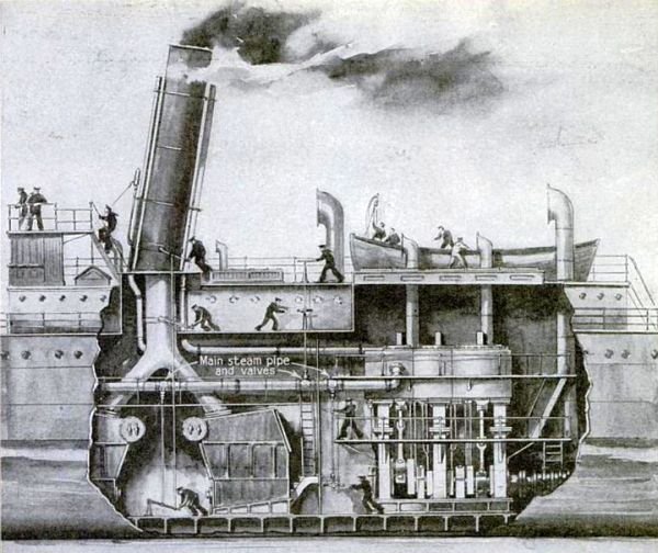 Early steam-powered ship