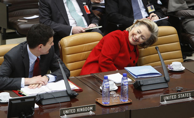 David Miliband, former foreign secretary for the U.K., floored then-Secretary of State Hillary Clinton with his charm.