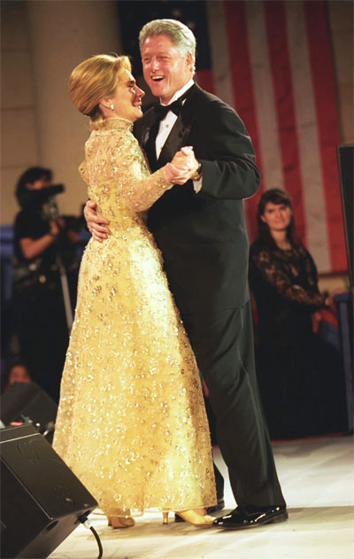 President Bill Clinton and first lady Hillary Rodham Clinton dance at the Tennessee Inaugural Ball in Washington, D.C., in 1997 (Photo: National Archives Catalog)