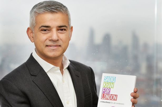 Labor Party's London mayoral candidate Sadiq Khan.