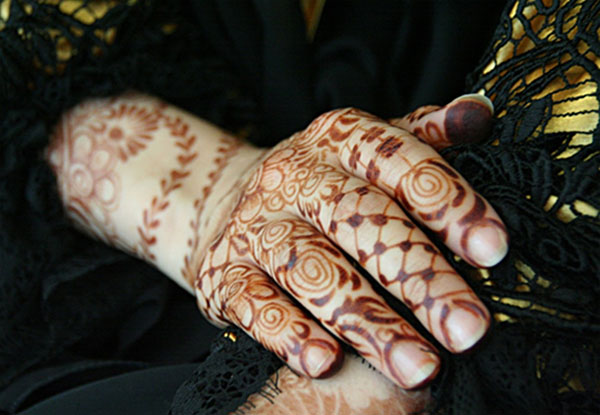 The henna tattoos of Yemeni women are considered artistic, feminine and lovely. The brutality of the current war in Yemen is influenced by sectarian strife and great power proxy battles (Photo by Anthony C. LoBaido)