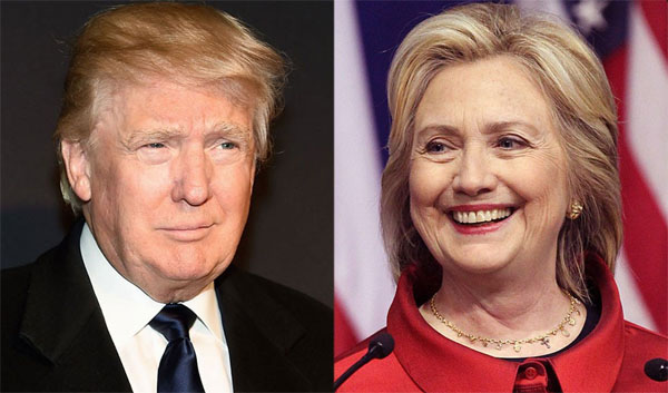 GOP front-runner Donald Trump and Democrat front-runner Hillary Clinton (Photo: Twitter)