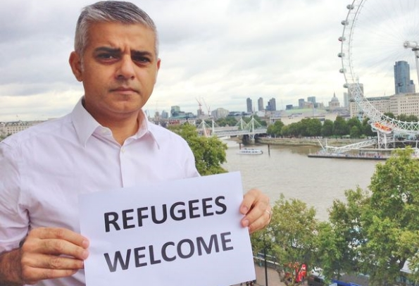 Sadiq Khan joined the #refugeeswelcome campaign earlier this year.
