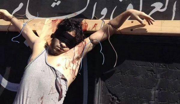 True martyr, Christian crucified by ISIS in al-Raqqa Syria, 2014
