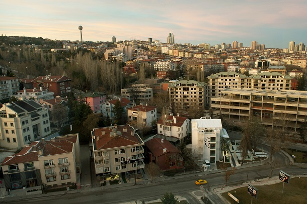 Early morning light falls on Ankara, Turkey. (DoD Photo By Glenn Fawcett)