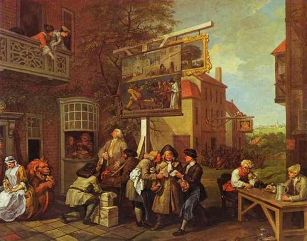 'Canvassing for Votes' by William Hogarth, 1755