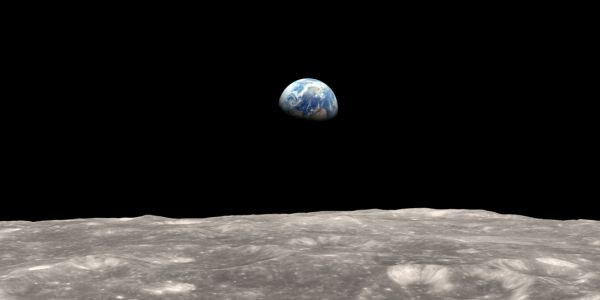View of earth from moon
