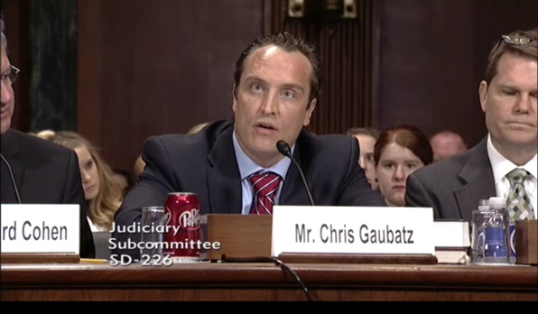 Chris Gaubatz testifies before Congress on June 28, 2016