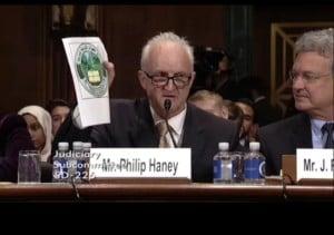 Former Department of Homeland Security officer Philip Haney at Senate hearing June 28, 2016 (Screenshot Senate Judiciary Committee video).