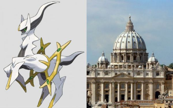 The character Arceus and the Vatican