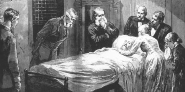 Deathbed of President James Garfield
