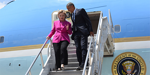 Hillary Clinton and President Obama (Photo: Twitter/Hillary Clinton)