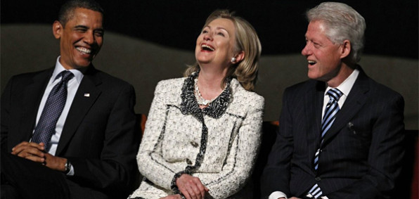 President Obama, Hillary Clinton and Bill Clinton (Photo: Twitter)