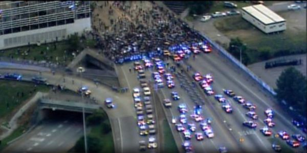 Protesters block interstate near downtown Atlanta