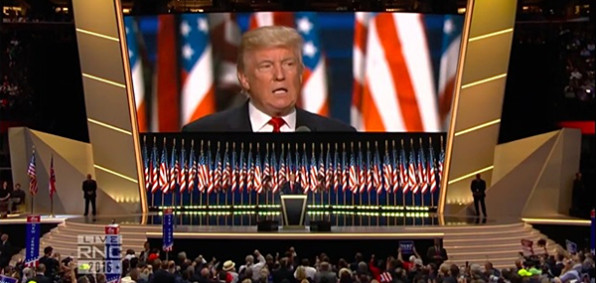 Donald Trump's RNC acceptance speech (Photo: Screenshot from RNC live feed)
