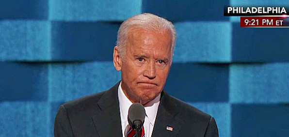 Vice President Joe Biden speaking at the Democratic National Convention in Philadelphia, Wednesday, July 27, 2016