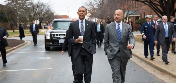 President Obama and DHS Secretary Jeh Johnson (WhiteHouse.gov)