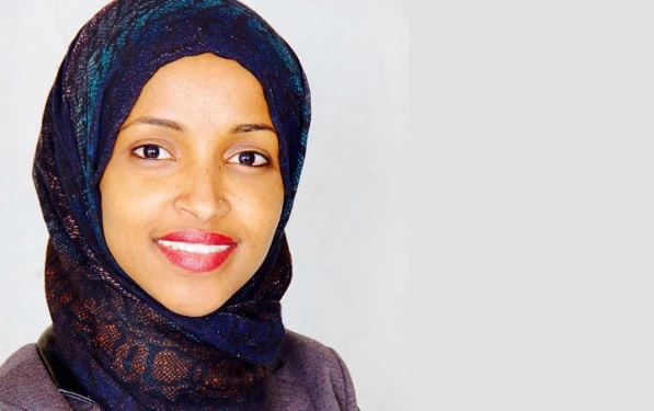 Ilhan Omar, a Democrat community organizer, won a seat in the Minnesota state House district representing Minneapolis, defeating 44-year Democrat incumbent Phyllis Khan in the 2016 primary election and then easily beating the GOP candidate in November.