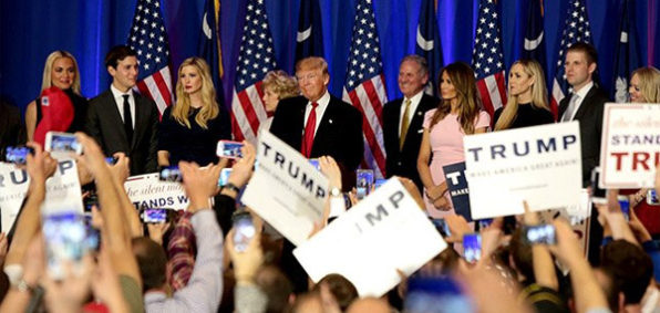 GOP nominee Donald Trump at a rally (Photo: Twitter)