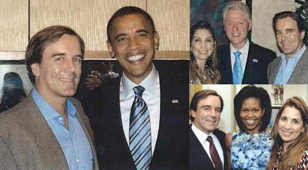 Claudio Osorio with Bill Clinton and Obamas