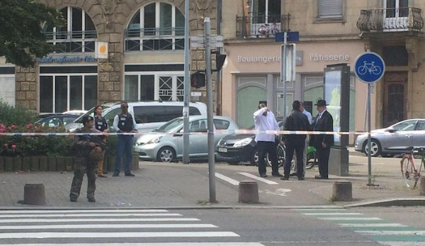 Strasburg, France, crime scene Friday