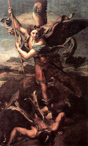St. Michael and Satan by Raphael