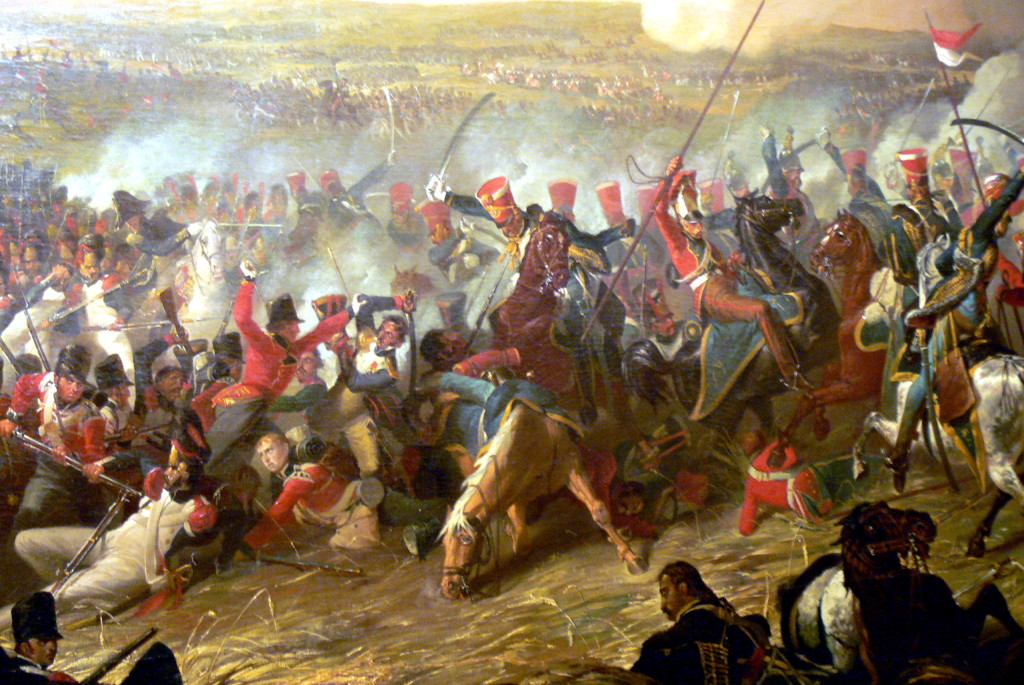 Napolean's defeat at the battle of Waterloo