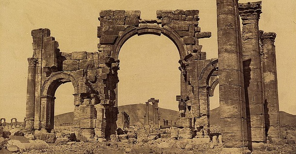 Original arch of Palmyra, in Syria