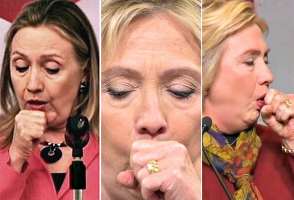 Democratic Party nominee Hillary Clinton has had numerous coughing fits during her 2016 run for the White House (Photo: Twitter)