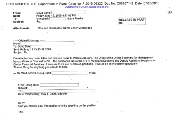 JUDICIAL WATCH cheryl mills personal email #5 STATE POSITION IN S CAROLINA HEAVILY REDACTED