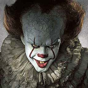 """The new version of """"Pennywise"""" the clown (courtesy Entertainment Weekly)"""