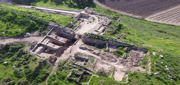 Excavation of gate complex of biblical city of Lachish in the Judean foothills