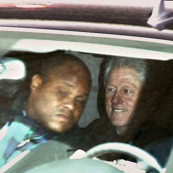 This photo was published by the U.K. Express, which said former President Bill Clinton was leaving the New York Presbyterian Hospital after visiting his wife
