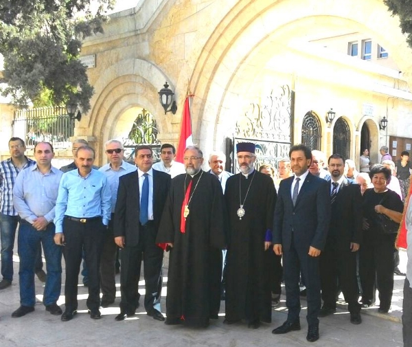 Members of St. Mary's Apostolic Church in Aleppo, Syria, were overjoyed to receive aid from Armenia, a small, poor country that is doing more for the Christians of Aleppo than the U.S. or the U.N.