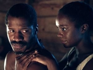 Nat Turner (Nate Parker) and wife Cherry (Aja Naomi King)Photo: Fox Searchlight