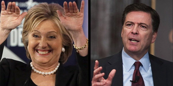 Hillary Clinton and FBI Director James Comey (Photo: Twitter)