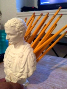 Julius Caesar pencil holder