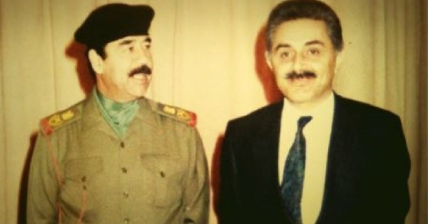 Saddam with nuclear weapons boss Dr. Jafar Dhia Jafar in the early days. Jafar's brother now runs a cargo container company that has acquired a 35-year lease at Port Canaveral, Florida.