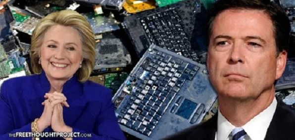 Image result for clinton destroy laptop