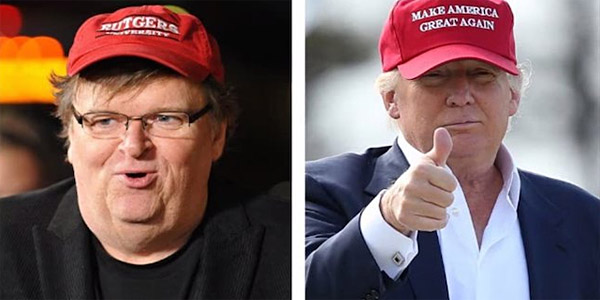 "Finally, something leftist Michael Moore , GOP nominee donald Trump and ""hurting"" America can agree on (Photo: Twitter)"