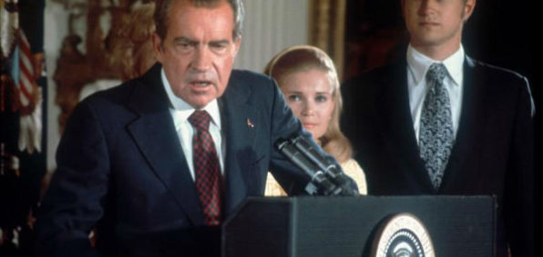 President Nixon on the day of his resignation, Aug. 9, 1974.