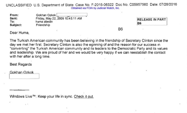 TURKEY huma abedin email IMAM PLEA to Hillary for voters