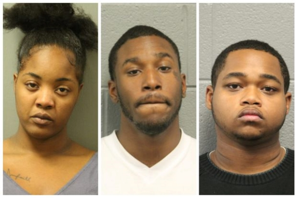 Four people, including a juvenile who is not pictured, arrested Thursday are accused of beating a man for voting for Donald Trump.
