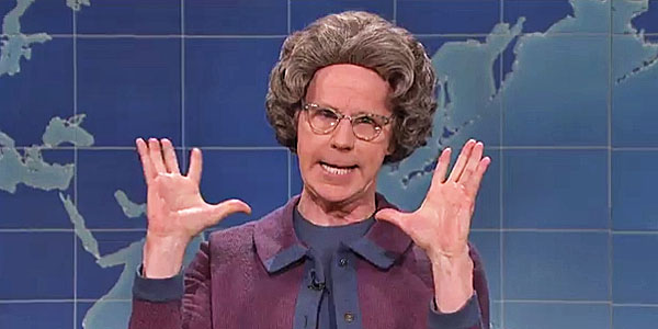 "Dana Carvey spoofs Christians as ""the Church Lady"" on ""Saturday Night Live"""