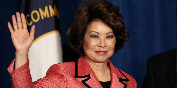 President-elect Donald Trump picked former Labor Secretary Elaine Chao for transportation secretary (Photo: Twitter)